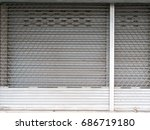 the old style entrance door of... | Shutterstock . vector #686719180