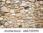 Stone Cladding Wall Background.