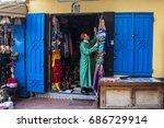 morocco  22 04 2016  a moroccan ... | Shutterstock . vector #686729914