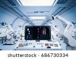 3d rendering control panel... | Shutterstock . vector #686730334