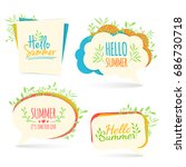 set banner  logo  sticker ... | Shutterstock . vector #686730718