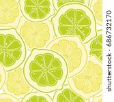 Seamless Vector Citrus Pattern...