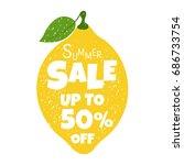 summer sale poster with lemon | Shutterstock . vector #686733754