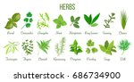 big icon set of popular... | Shutterstock .eps vector #686734900