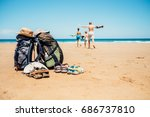 active vacation concept image.... | Shutterstock . vector #686737810