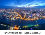 ho chi minh city  aerial view | Shutterstock . vector #686738860