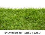 green grass on white background | Shutterstock . vector #686741260