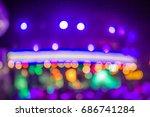 purple bokeh  bokeh light ... | Shutterstock . vector #686741284