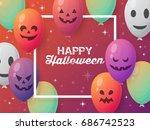 halloween holiday banner design ... | Shutterstock .eps vector #686742523