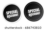 special discount stickers | Shutterstock .eps vector #686743810
