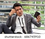 asia businessman with stress... | Shutterstock . vector #686745910