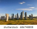 stone circle at callanish  isle ... | Shutterstock . vector #686748808