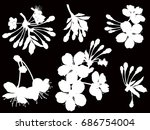 illustration with spring tree... | Shutterstock .eps vector #686754004