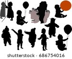illustration with child... | Shutterstock .eps vector #686754016