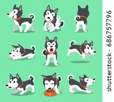 cartoon character siberian... | Shutterstock .eps vector #686757796