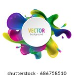 vector multicolor splat and a... | Shutterstock .eps vector #686758510