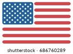 vector abstract american flag.... | Shutterstock .eps vector #686760289