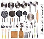 kitchen utensils isolated on... | Shutterstock . vector #686760613