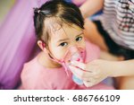 doctor treatment a child who... | Shutterstock . vector #686766109