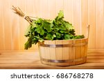 various sauna accessories in a... | Shutterstock . vector #686768278