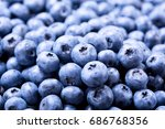 Close Up Of Fresh Blueberries...