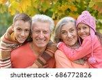 happy grandparents and... | Shutterstock . vector #686772826
