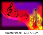 illustration music background... | Shutterstock . vector #68677369