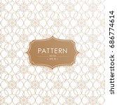 vector seamless geometric... | Shutterstock .eps vector #686774614
