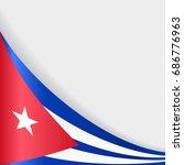 cuban flag wavy abstract... | Shutterstock .eps vector #686776963