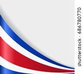 costa rican flag wavy abstract...   Shutterstock .eps vector #686780770