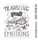travel. vector hand drawn... | Shutterstock .eps vector #686780818