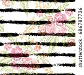 elegant seamless pattern with...   Shutterstock .eps vector #686787736