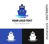 ship logo template. logo...   Shutterstock .eps vector #686788894