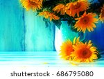 Bouquet Of Sunflowers In A Jug...