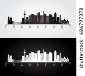 frankfurt skyline and landmarks ... | Shutterstock .eps vector #686797378