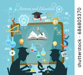 science and education concept.... | Shutterstock .eps vector #686805370