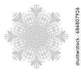 guilloche abstract rosette lace ... | Shutterstock . vector #686807926