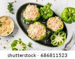autumn recipes. home stuffed... | Shutterstock . vector #686811523