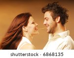 young sexy lovers with salty... | Shutterstock . vector #6868135
