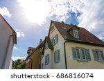 german neighborhood residential ... | Shutterstock . vector #686816074
