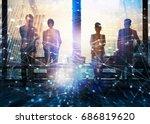 group of business partner... | Shutterstock . vector #686819620