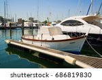 yachts in the port waiting  sea ... | Shutterstock . vector #686819830