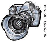 sketch of a modern digital... | Shutterstock .eps vector #68682208