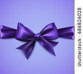 decorative purple bow with... | Shutterstock .eps vector #686826028