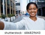 close up   beautiful positive...   Shutterstock . vector #686829643