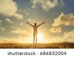 it's a beautiful life. happy... | Shutterstock . vector #686832004