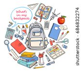 back to school poster with...   Shutterstock .eps vector #686832274