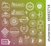 collection of labels and... | Shutterstock .eps vector #686832718
