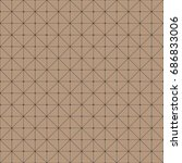 brown simple pattern seamless... | Shutterstock . vector #686833006