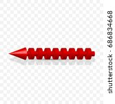 3d rendering red arrow icon. 3d ... | Shutterstock .eps vector #686834668